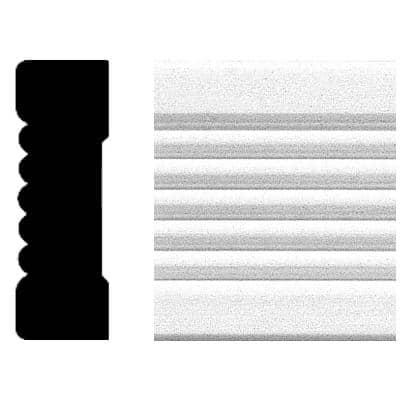 3/4 in. x 2-1/4 in. x 8 ft. MDF Fluted Casing Moulding