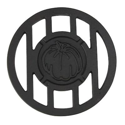 5.5 in. H x 5.5 in. W Cast Iron Halloween Harvest Inspired Pumpkin Round Branding Grill Iron Accessory