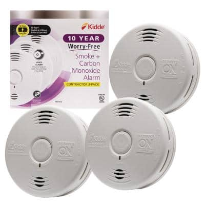 10-Year Worry-Free Sealed Battery Combination Smoke and Carbon Monoxide Detector with Voice Alarm (3-Pack)