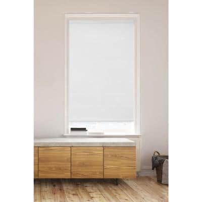 White Cordless Light Filtering Non-Woven Honeycomb Cellular Shades Posh System (2-Tone Color) - 60 in. x 72 in.