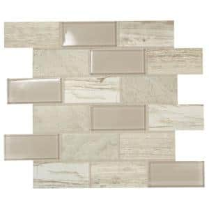 Premier Accents Beach Brick Joint 11 in. x 13 in. x 6 mm Glass Mosaic Wall Tile (0.9 sq. ft./Each)