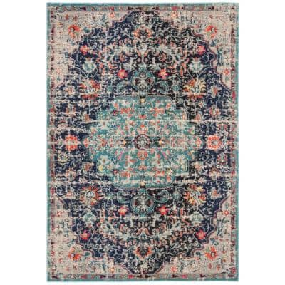 Safavieh Madison Black Teal 5 Ft X 8 Ft Area Rug Mad447z 5 The Home Depot