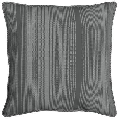 Acrylic 16 in. Graphite Stripe Throw Pillow
