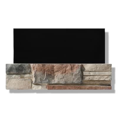 6 in. x 24 in. Stone Veneer Ledgestone Flat Panel Monument Valley (Box of 8)
