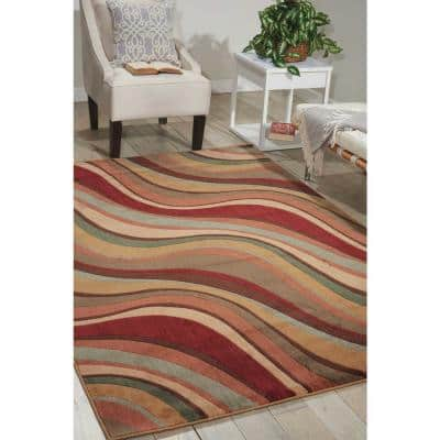 Somerset Multicolor 5 ft. x 7 ft. Floral Contemporary Area Rug