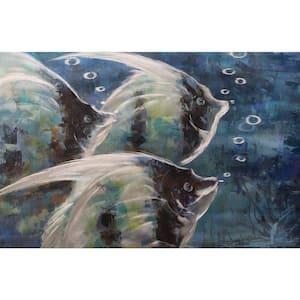 Grouping Angelfish Metal Wall Art (Small Size)