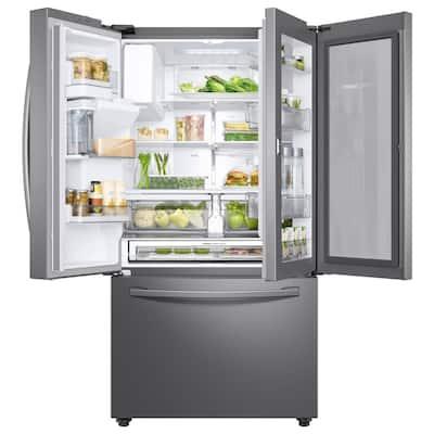 28 cu. ft. 3-Door French Door Refrigerator in Stainless Steel with Food Showcase Door