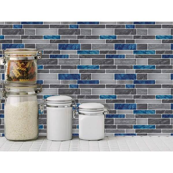 3D Wood Grain Stickon Tiles Self Adhesive Wall Tile 10x12 HyFanStr 5 Sheets Peel and Stick Tile Backsplash for Kitchen