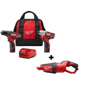 M12 12-Volt Lithium-Ion Cordless Drill Driver/Impact Driver Combo Kit with M12 Cordless Vacuum