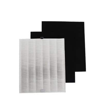 9.75x12x1.5 Replacement True HEPA, 2 Odor Eliminator Carbon Pre Filters-Pack Fits Coway Airmega
