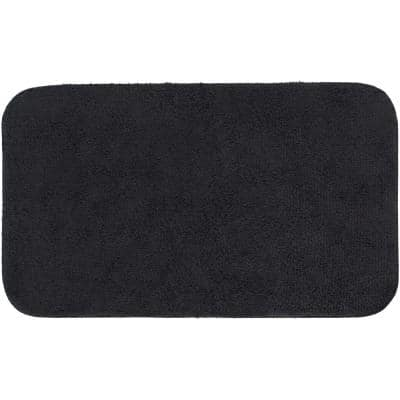 Legacy Black 24 in. x 40 in. Nylon Machine Washable Bath Mat