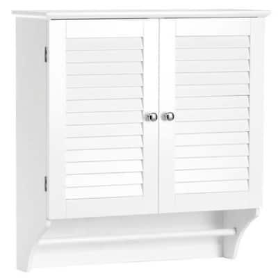 Ellsworth 23-41/50 in. W x 25 in. H x 8-43/50 in. D Bathroom Storage Wall Cabinet in White