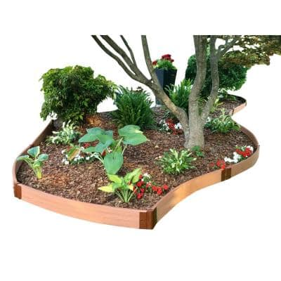 Two Inch Series 16 ft. x 5.5 in. Classic Sienna Backyard Border Curved Kit
