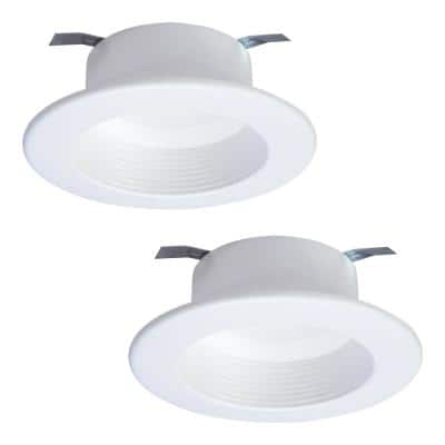 RL 4 in. Tunable CCT (2700K-5000K) White Bluetooth Smart Integrated LED Recessed Trim by Halo Home (2-Pack)