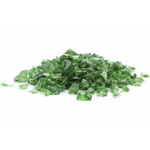 1/2 in. 10 lb. Medium Green Landscape Fire Glass