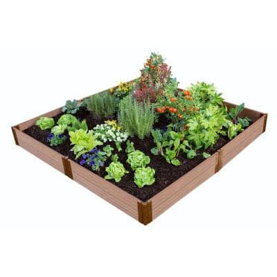 "Classic Sienna Raised Garden Bed 8' x 8' x 11"" – 1"" profile"