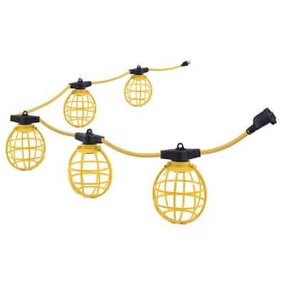 50 ft. 5-Socket String Caged Work Lights