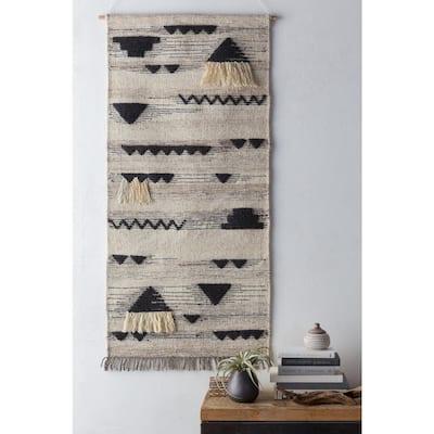 Usera 30 in. x 60 in. Cream Tapestry