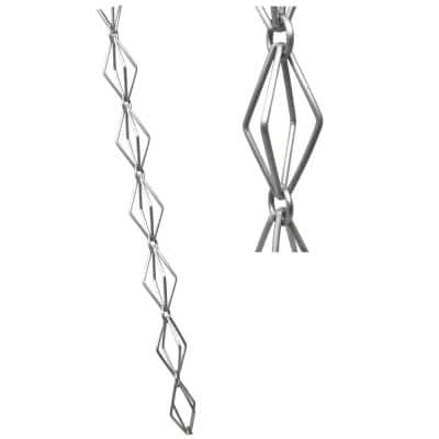 8.5 ft. Aluminum Taper Link Rain Chain