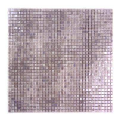 Galaxy Polaris Purple Square Mosaic 0.3125 in. x 0.3125 in. Iridescent Glass Wall Pool Floor Tile (1 Sq. ft.)