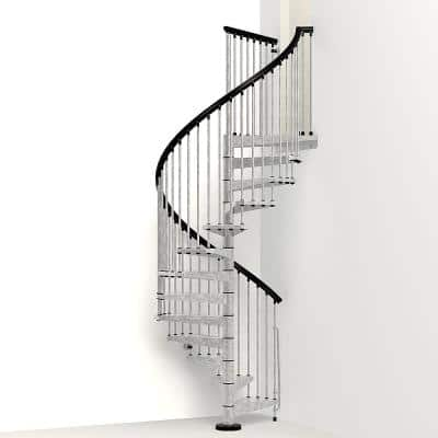 Enduro 63 in. Galvanized Steel Spiral Staircase Kit