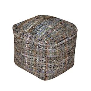 Harris Khaki Cube Pouf