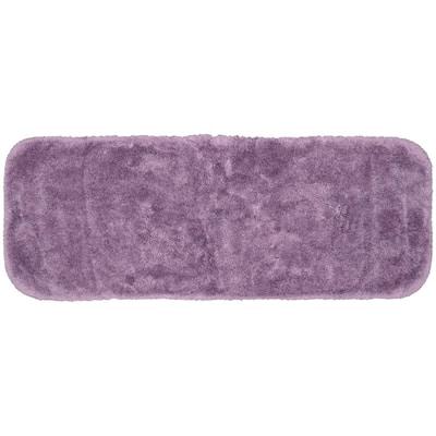 Finest Luxury Purple 22 in. x 60 in. Plush Nylon Bath Mat