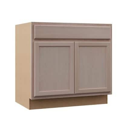 Hampton Unfinished Beech Raised Panel Stock Assembled Base Kitchen Cabinet (36 in. x 34.5 in. x 24 in.)