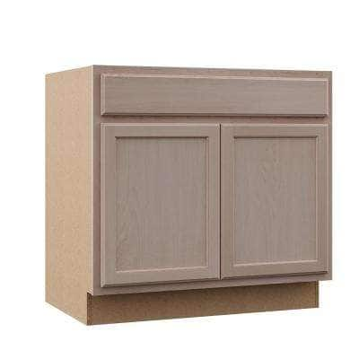 Hampton Assembled 36x34.5x24 in. Base Kitchen Cabinet in Unfinished Beech