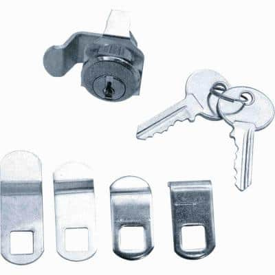7/8 in. Outside Dimension Brushed Nickel 5-Cam Mailbox Lock