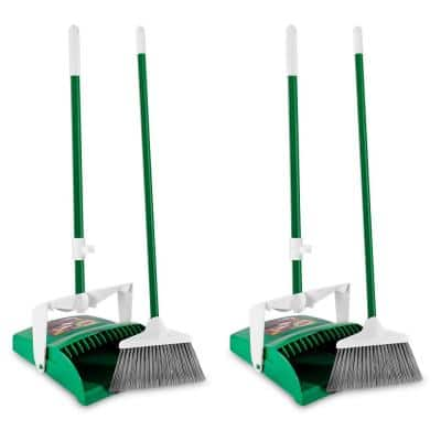 12 in. Lobby Broom and Dust Pan Set (2-Pack)