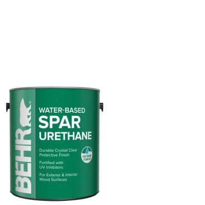 1 Gal. Satin Clear Water-Based Interior/Exterior Spar Urethane Wood Sealer