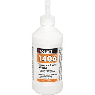 1406 16 oz. Tongue and Groove Adhesive in Pint Applicator Bottle
