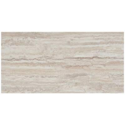 Duren 28mil Riverstone Camel 18 in. x 36 in. Glue Down Luxury Vinyl Tile Flooring (36 sq. ft.)