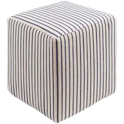Gerhard Navy Accent Pouf Ottoman