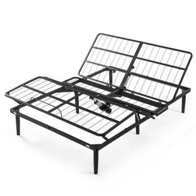 Jared Black Metal Full Adjustable Bed