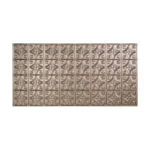 Traditional #1 2 ft. x 4 ft. Glue Up Vinyl Ceiling Tile in Brushed Nickel (40 sq. ft.)