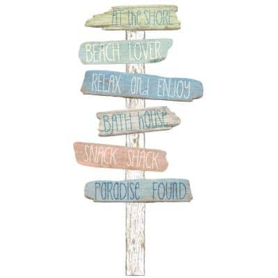 39 in. x 34.5 in. Beach Bound Wall Decal