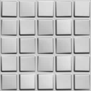 Falkirk Fifer 20 in. x 20 in. Paintable Off White Geometric Cubes Fiber Decorative Wall Paneling (5-Pack)