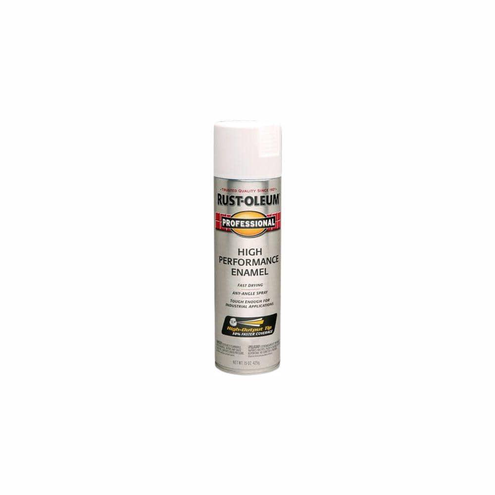 Rust Oleum Professional 15 Oz High Performance Enamel Semi Gloss White Spray Paint 6 Pack 239108 The Home Depot