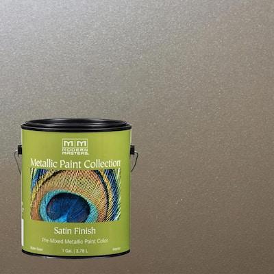1 gal. Nickel Water-Based Satin Metallic Interior Paint