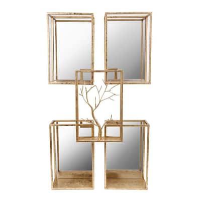 Tawa Gold Mirrored Wall Accent
