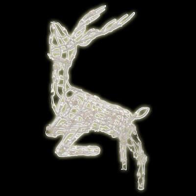 48 in. 105-Light Multi Posing Deer Sculpture Wireframe