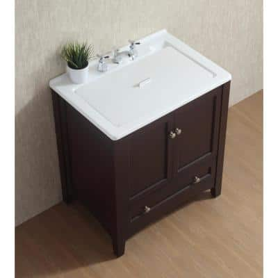 30 in. x 22 in. Espresso Acrylic Drop-in Laundry Utility Sink