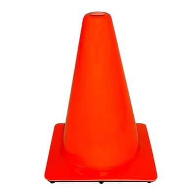 12 in. Orange PVC Non Reflective Safety Cone