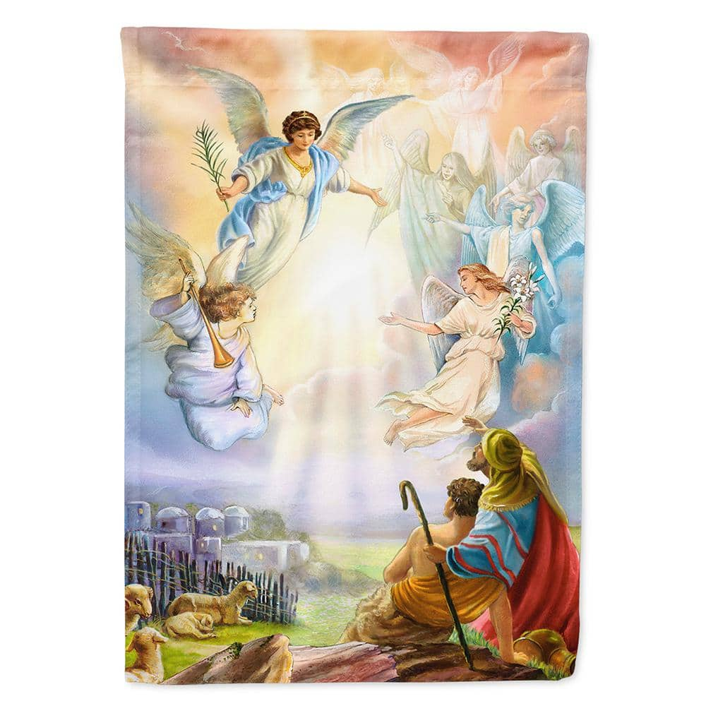 Caroline S Treasures 11 In X 15 1 2 In Polyester The Shepherds And Angels Appearing 2 Sided 2 Ply Garden Flag Aph5469gf The Home Depot