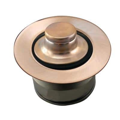 3-1/2 in. EZ-Mount Sink Disposal Flange and Stopper in Antique Copper