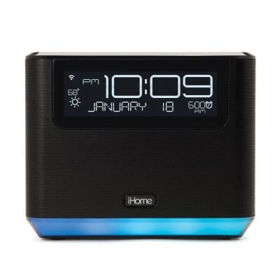 Alexa Voice Service Bedside Clock Stereo System Featuring Far-Field with Bluetooth and USB Charging