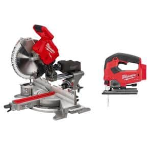 M18 FUEL 18-Volt Lithium-Ion Brushless 12 in. Cordless Dual Bevel Sliding Compound Miter Saw with Jig Saw