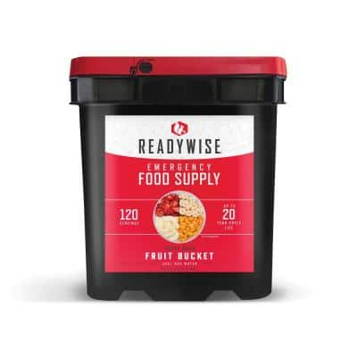 120-Serving Freeze-Dried Fruit and Snack Bucket